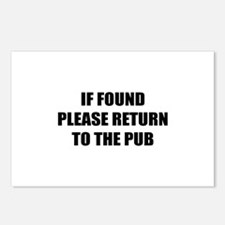 If found return to the pub Postcards (Package of 8