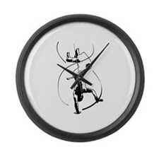 Capoeira Large Wall Clock