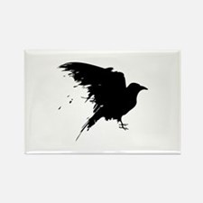 Grunge Bird Rectangle Magnet