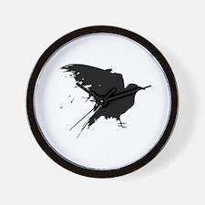 Grunge Bird Wall Clock