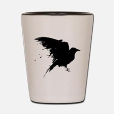 Grunge Bird Shot Glass