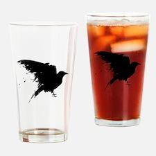 Grunge Bird Drinking Glass