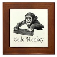 CODE MONKEY - Framed Tile