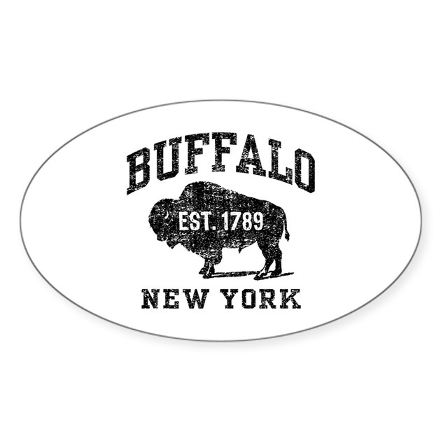 Buffalo new york sticker oval by teesorama - Stickers geant new york ...