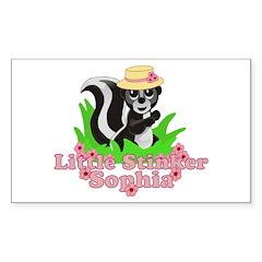 Little Stinker Sophia Sticker (Rectangle 10 pk)