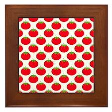 Red Tomato Pattern Framed Tile