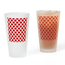 Red Tomato Pattern Drinking Glass