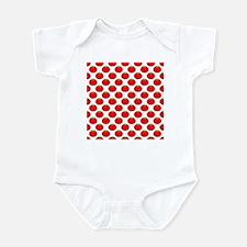 Red Tomato Pattern Infant Bodysuit