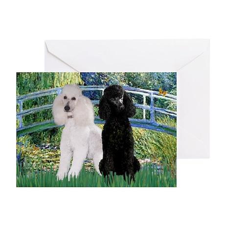 Bridge & Poodle Pair Greeting Cards (Pk of 10)
