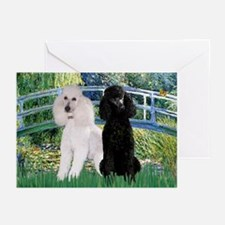 Bridge & Poodle Pair Greeting Cards (Pk of 10)