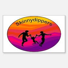 Skinnydipper Logo Sticker (Rectangle)