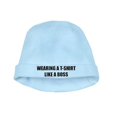 Wearing a T-shirt like a boss baby hat