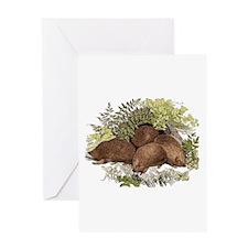 Hedgehogs Greeting Card