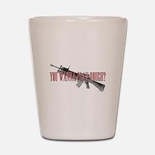 You Wanna Play Rough? Scarface Shot Glass