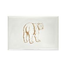 Unique Big bear Rectangle Magnet