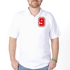 Varsity Uniform Number 9 (Red) T-Shirt