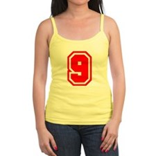 Varsity Uniform Number 9 (Red) Jr.Spaghetti Strap