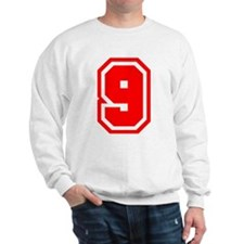 Varsity Uniform Number 9 (Red) Sweatshirt
