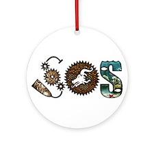 Unique Dragon boat Ornament (Round)