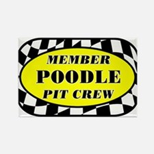 Poodle PIT CREW Rectangle Magnet