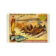 Roman Chariot Races Circus Poster Rectangle Magnet
