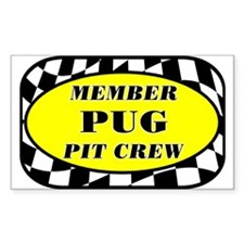 Pug PIT CREW Decal