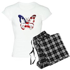 Butterfly-US Flag- Pajamas