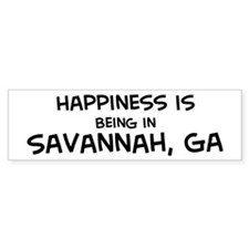 Happiness is Savannah Bumper Bumper Sticker