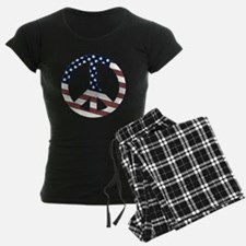 US Flag-Peace Sign-vintage lo Pajamas