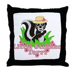 Little Stinker Terri Throw Pillow