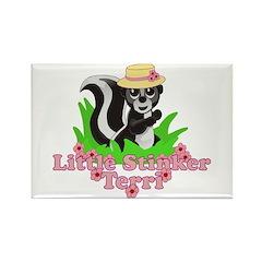 Little Stinker Terri Rectangle Magnet (100 pack)