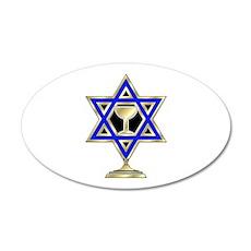 Jewish Star 20x12 Oval Wall Decal