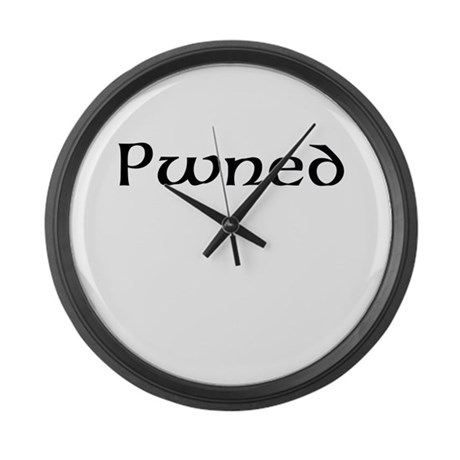 Pwned Large Wall Clock