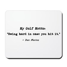 'My Golf Motto' Mousepad
