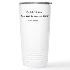'My Golf Motto' Travel Mug