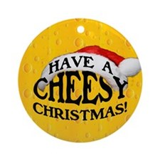 Cheesy Christmas Ornament (Round)