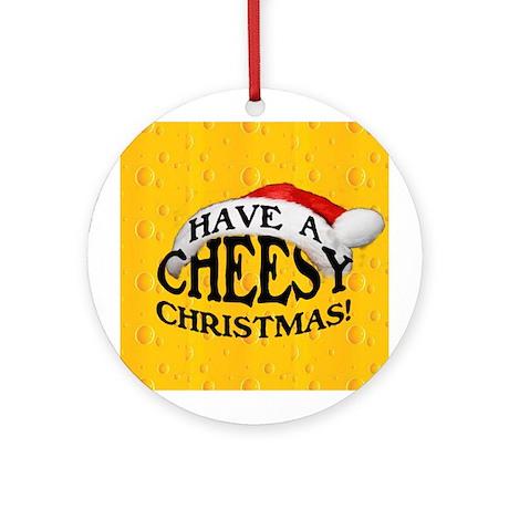 Cheesy Christmas Ornament (Round)