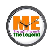 Me, the myth, the man Wall Clock