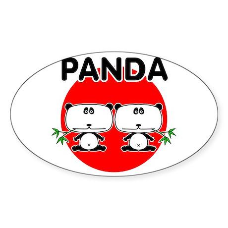 Panda 2 Sticker (Oval)