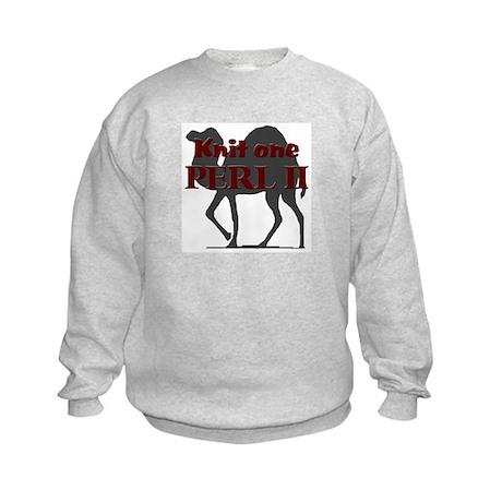 KNIT I, PERL II Kids Sweatshirt