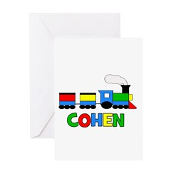 COHEN - Personalized TRAIN Greeting Card