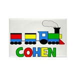 COHEN - Personalized TRAIN Rectangle Magnet