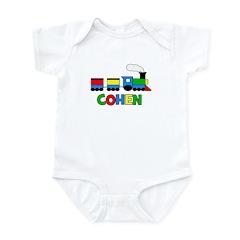 COHEN - Personalized TRAIN Infant Bodysuit
