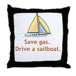 Drive A Sailboat! Throw Pillow