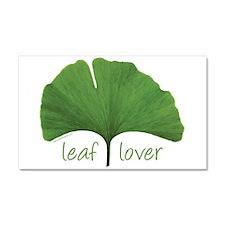 Leaf Lover Car Magnet 20 x 12
