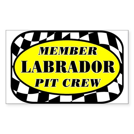 Labrador PIT CREW Sticker (Rectangle)