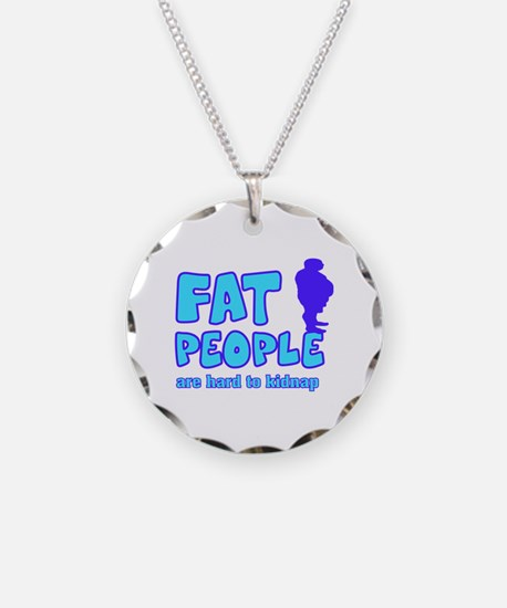 Fat people Necklace Circle Charm