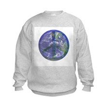 Planet Earth Peace Sign Sweatshirt