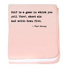 'Golf Quote' baby blanket