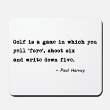 'Golf Quote' Mousepad